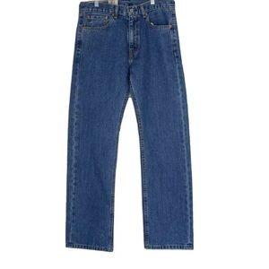 Levi's 505 Regular Fit Jeans Medium Blue Stonewash